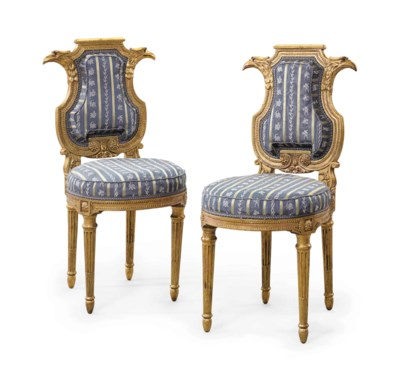 A PAIR OF FRENCH GILTWOOD CHAI