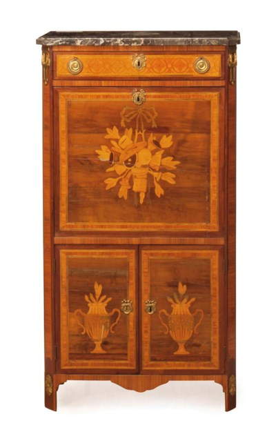 A LOUIS XVI KINGWOOD MARQUETRY