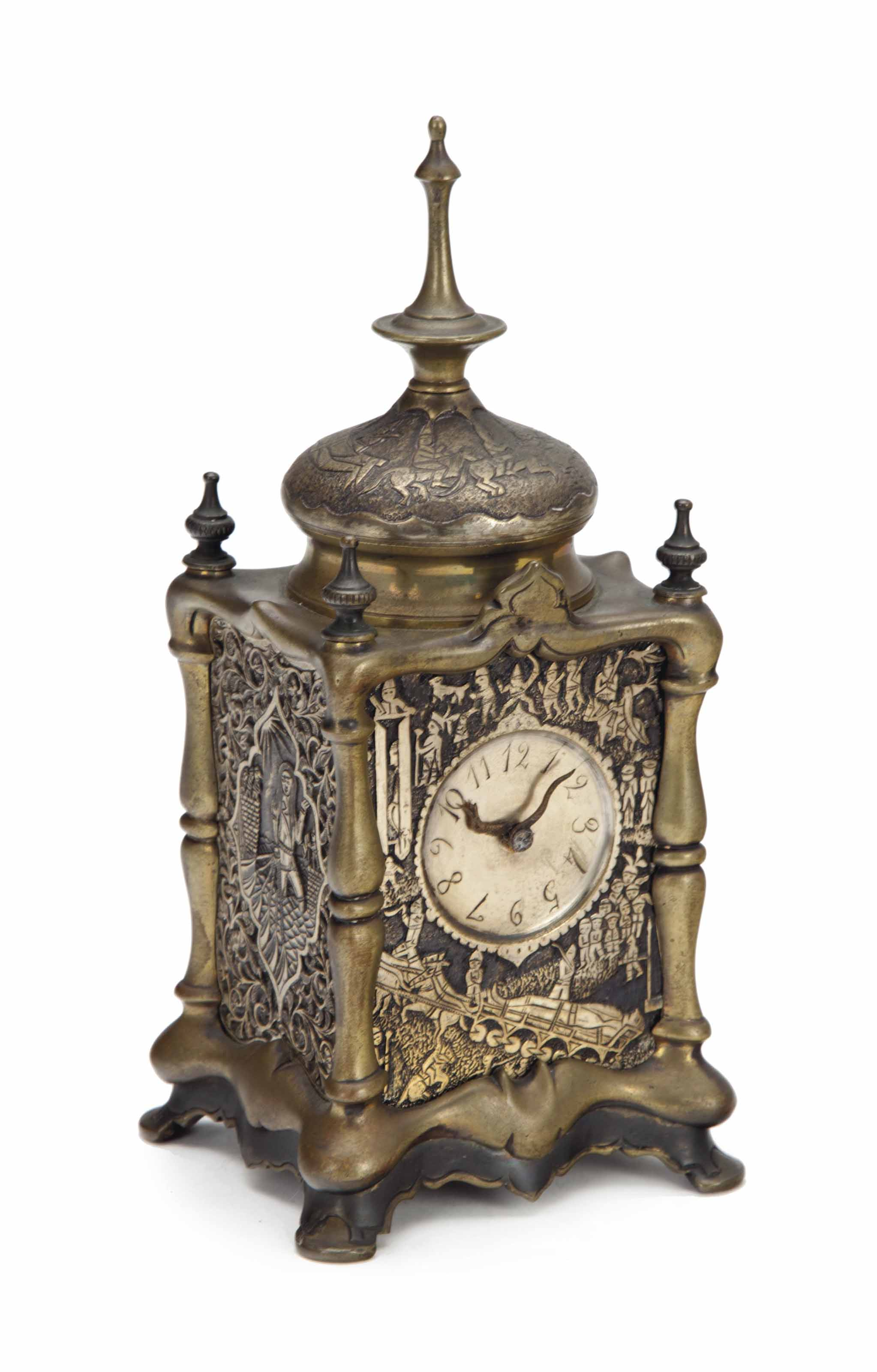 A BRONZE REPEATING CARRIAGE CL
