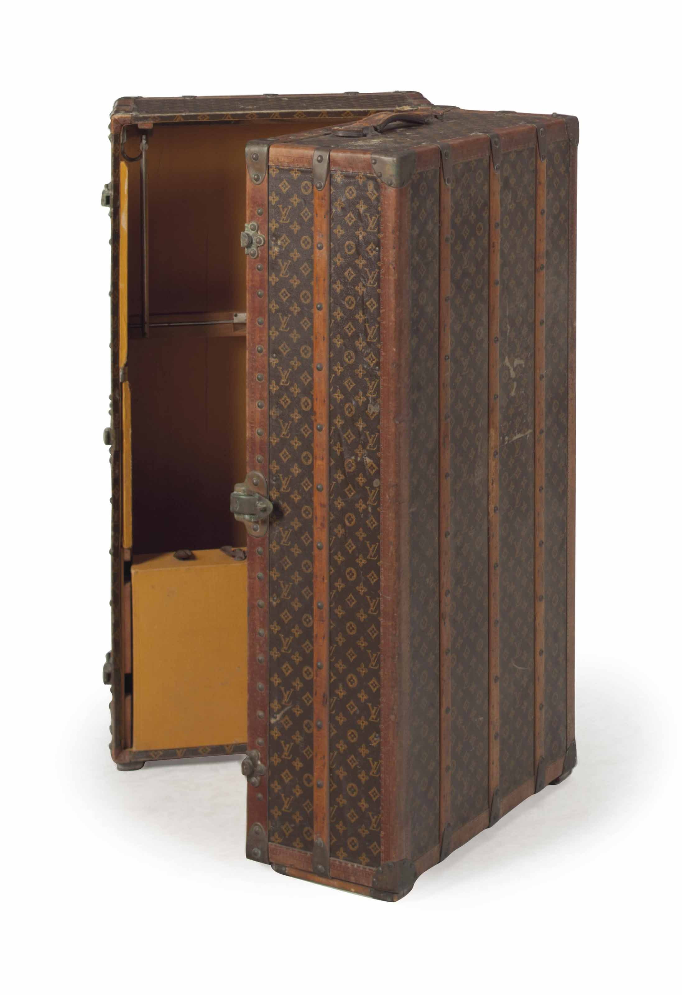 A LOUIS VUITTON WARDROBE TRUNK