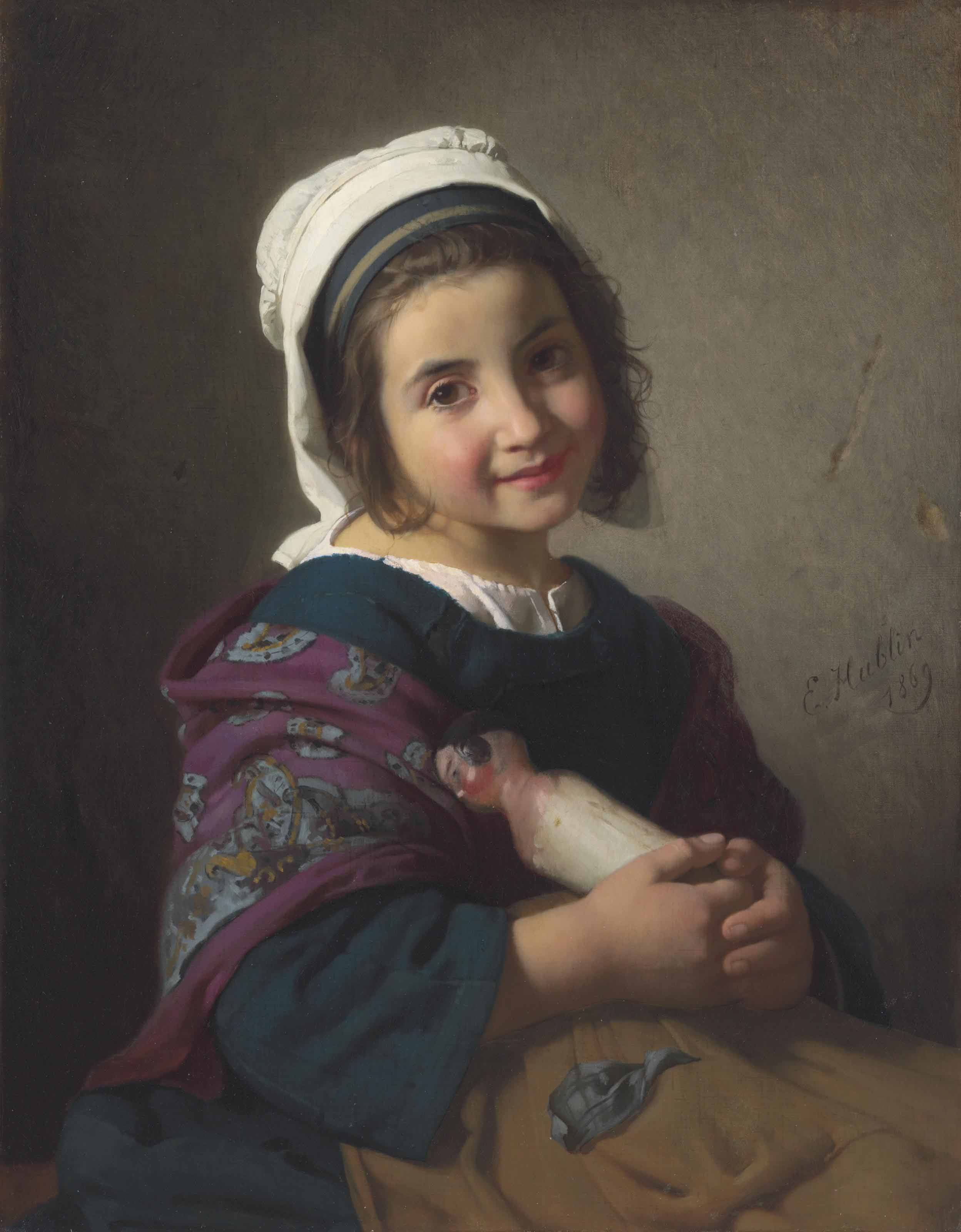 A Girl with her Doll