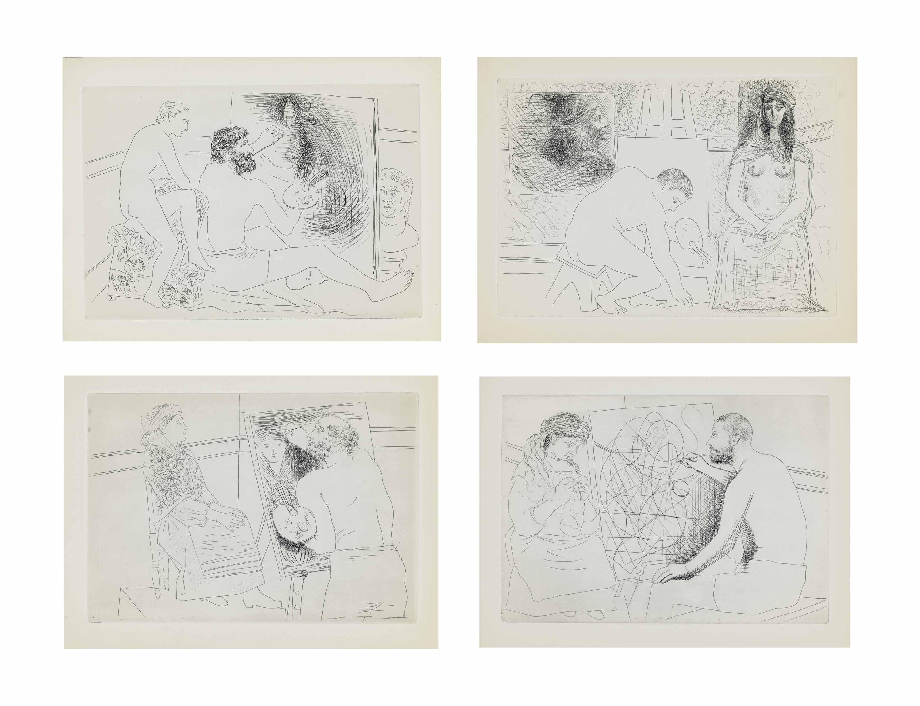 Pablo picasso honor de balzac le chef d 39 oeuvre inconnu ambroise vollard paris 1931 b - Chef d oeuvre ...