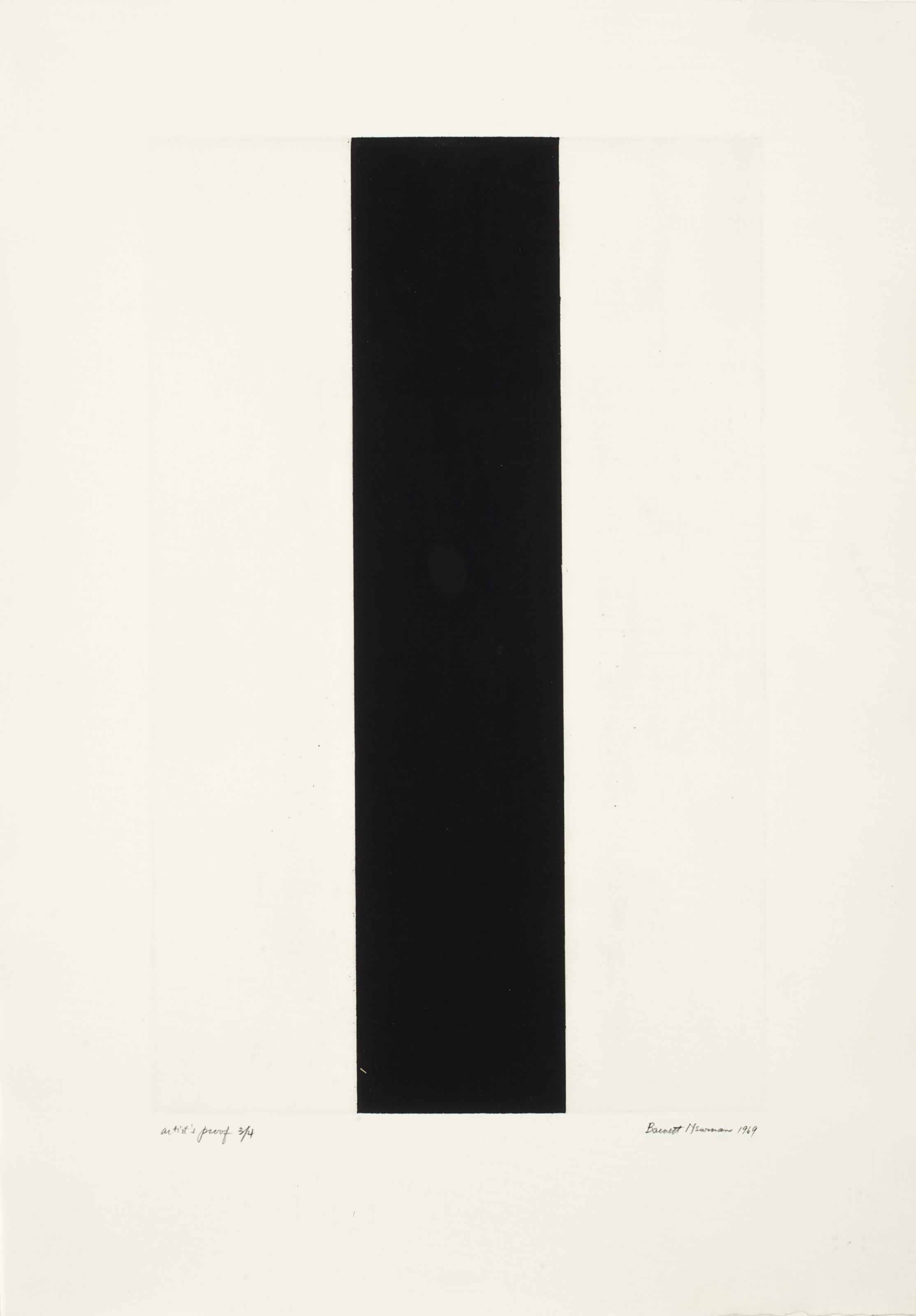 Untitled Etching 2 (The Barnett Newman Foundation 250; Sparks 41)