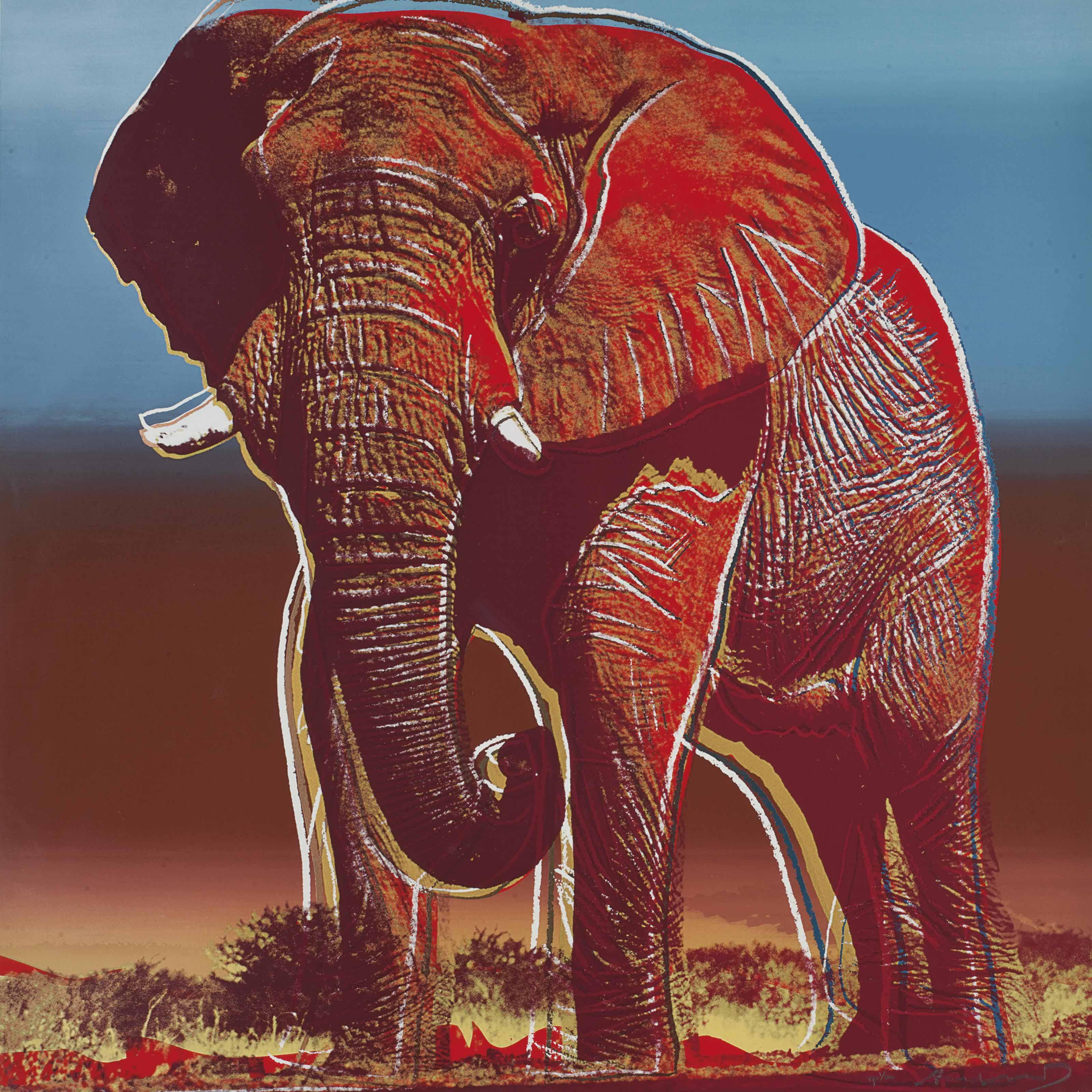 Andy Warhol African Elephant From Endangered Species