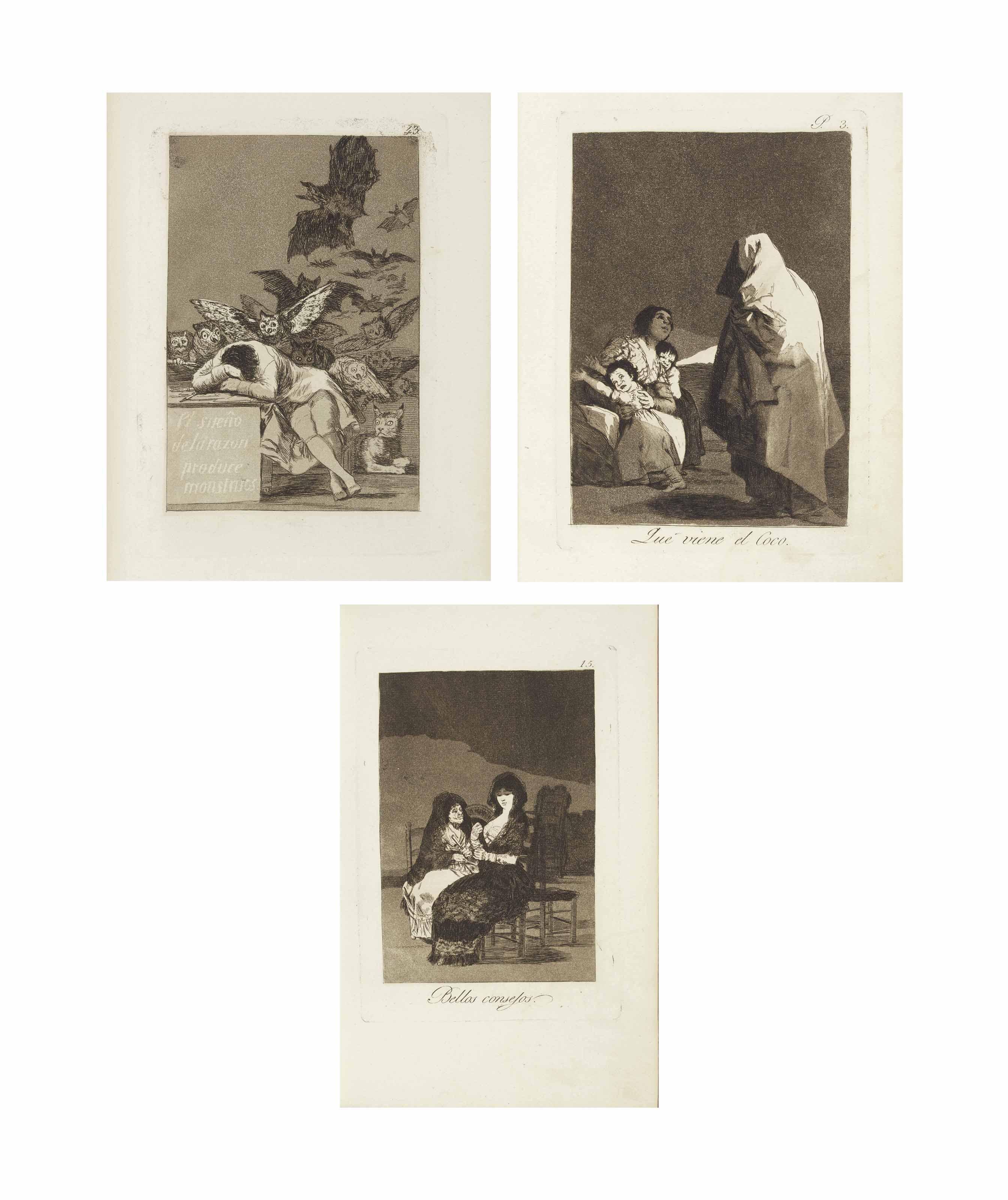 GOYA Y LUCIENTES, Francisco (1746-1828). [Los Caprichos. Madrid: possibly printed by Rafael Esteve for the artist, 1799.]