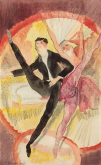 In Vaudeville: Two Dancers