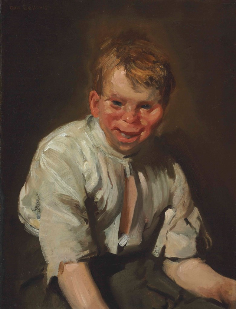 George Wesley Bellows (1882-1925), Portrait of a Laughing Boy, painted in 1907. 24 x 18¼  in (61 x 46.4  cm). Sold for $291,750 on 23 May 2013 at Christie's in New York