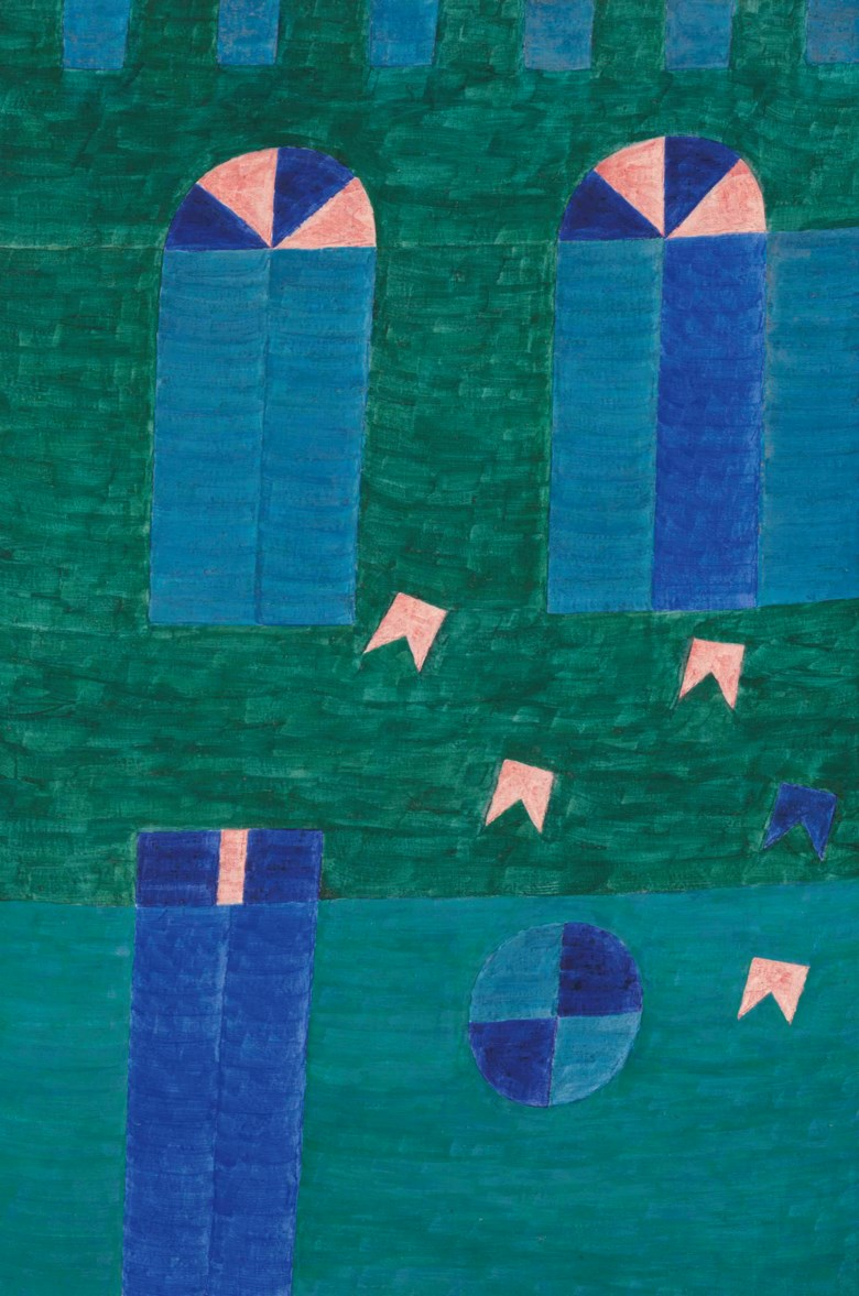 Alfredo Volpi (Brazilian 1896-1988), Fachada (No. 1331), painted circa late 1960s. Tempera on canvas. 42¾ x 28¼  in (108.6 x 72.7  cm). Sold for $783,750 on 29-30 May 2013 at Christie's in New York