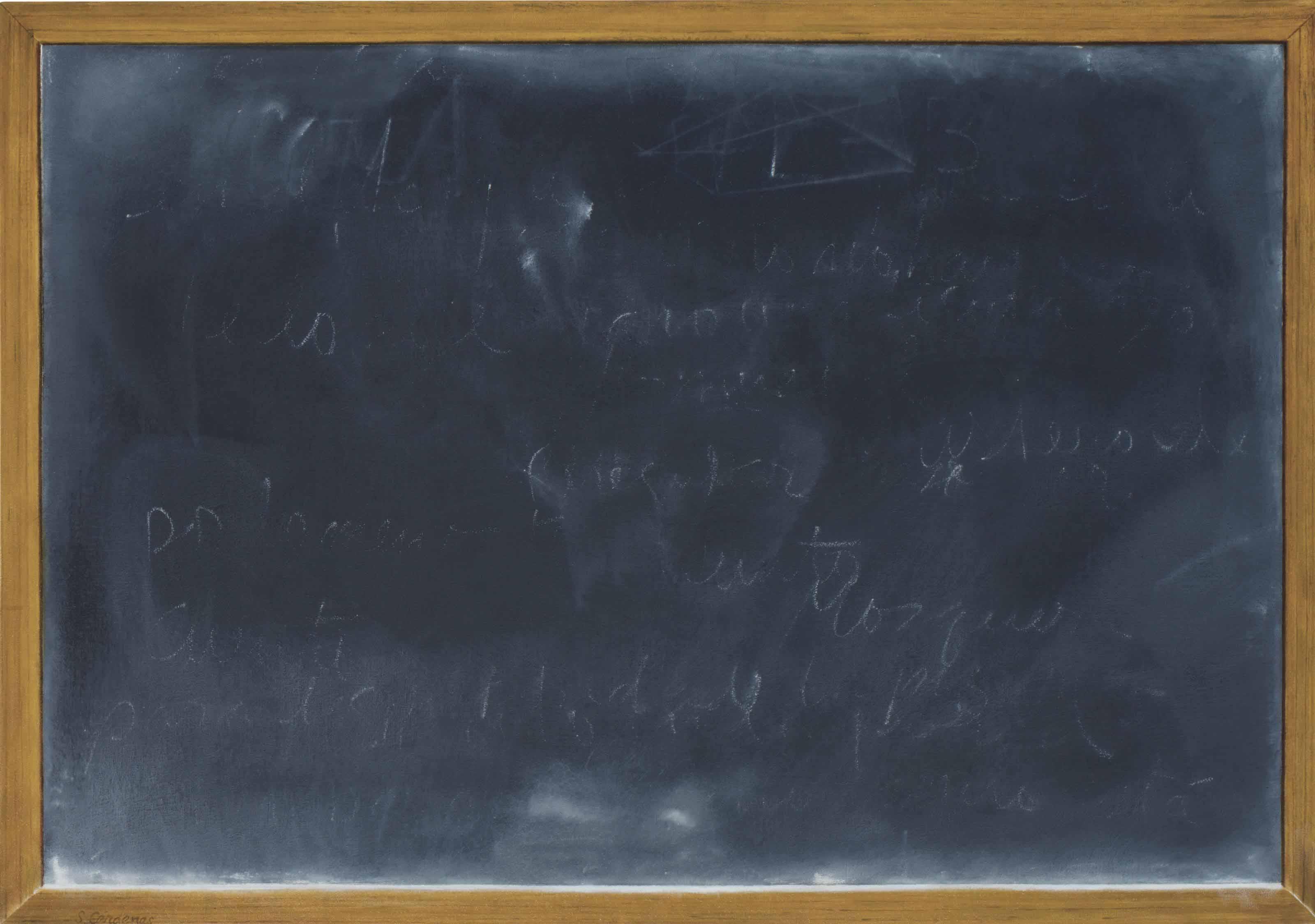 Pizarra, escrito en la pared