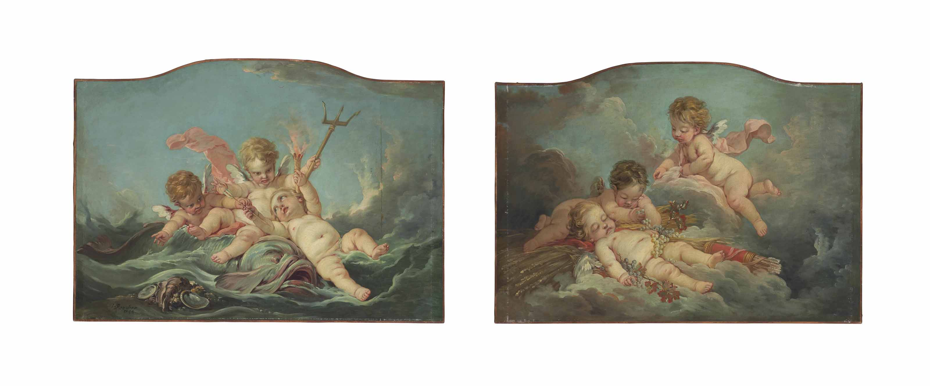 An Allegory of Water; and An Allegory of Earth