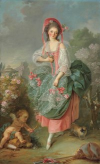 Portrait of Mademoiselle Guimard as Terpsichore