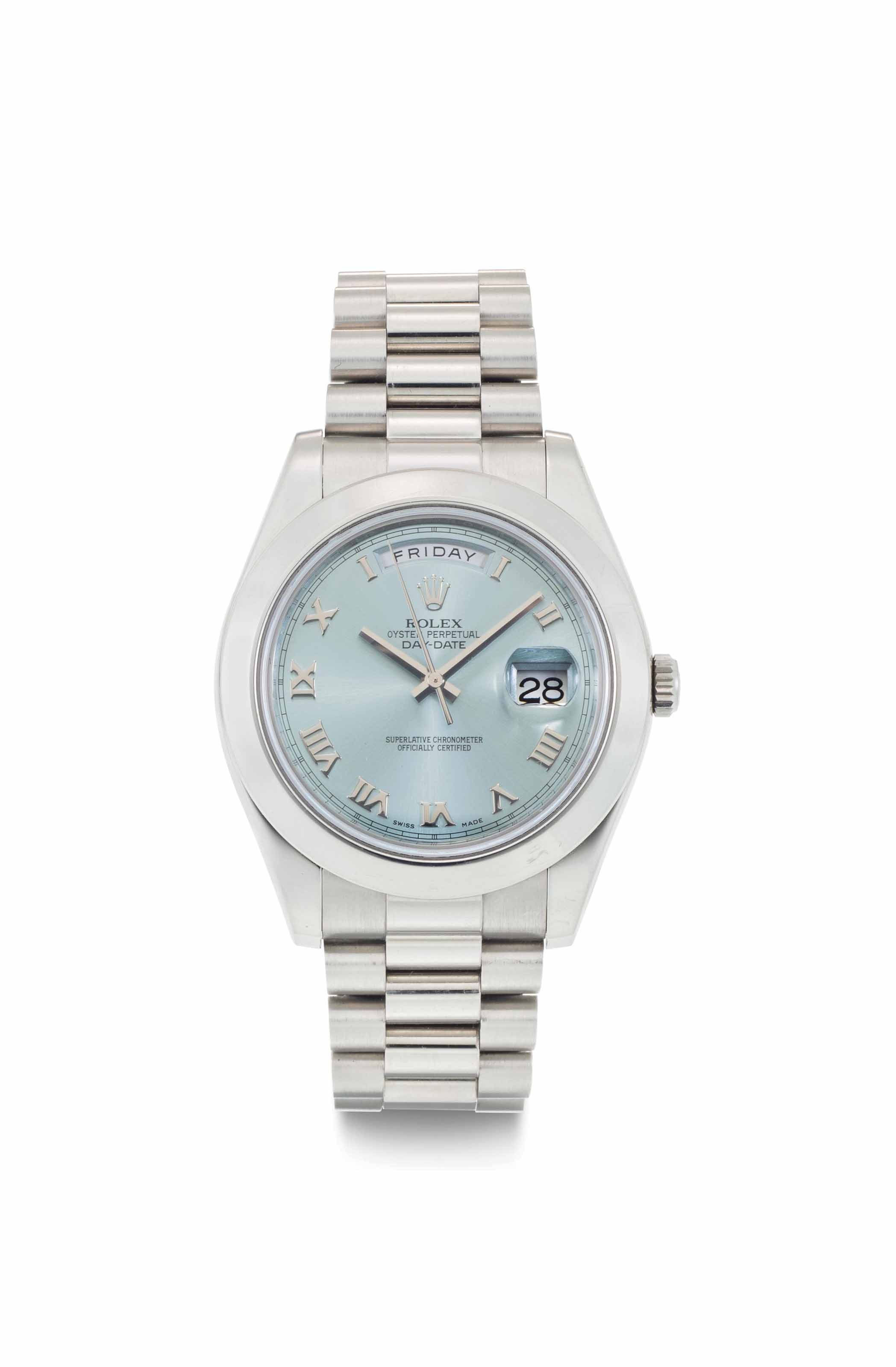 Rolex. A Fine and Heavy Platin