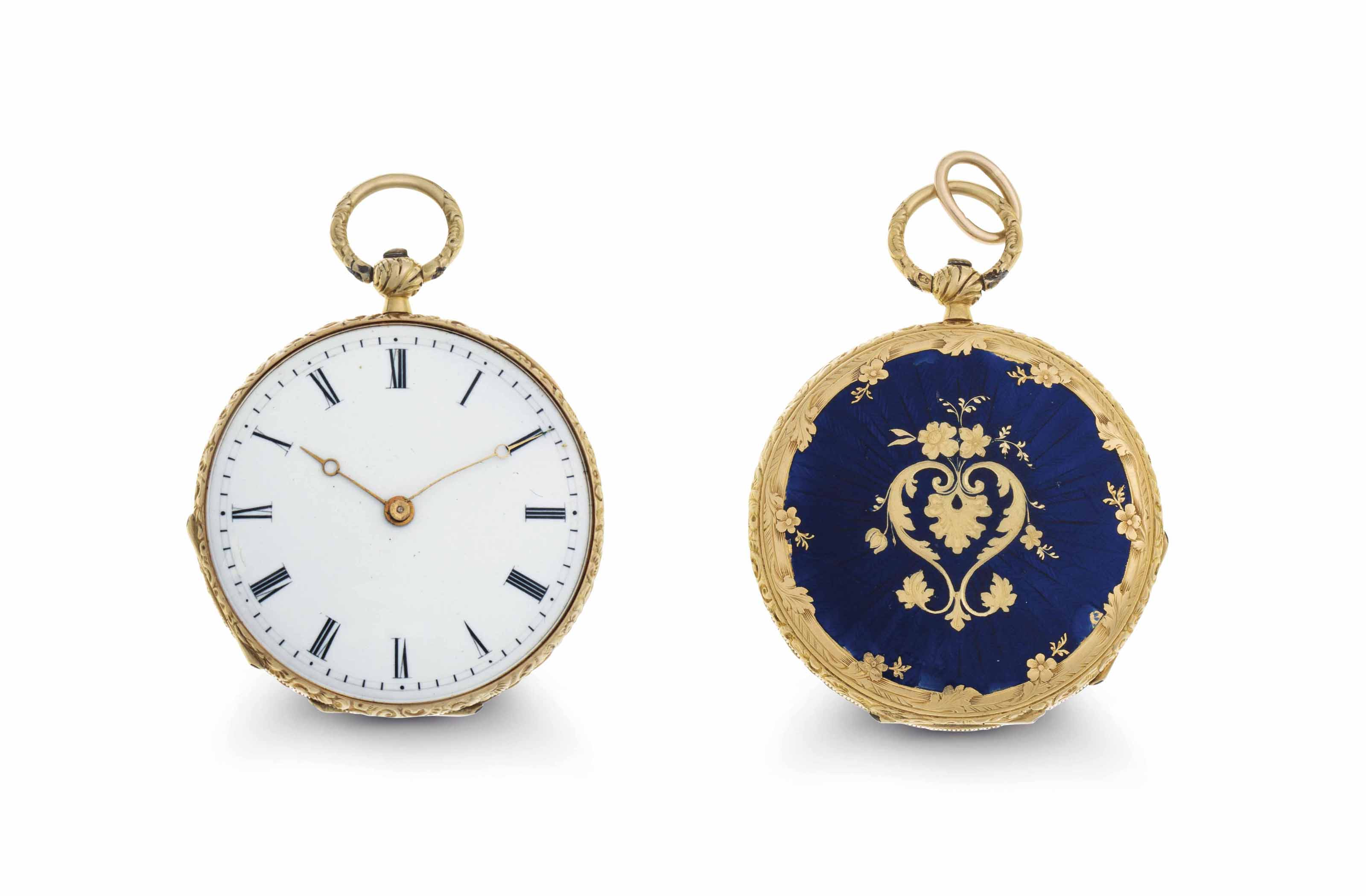 Piguet. An 18k Gold and Enamel