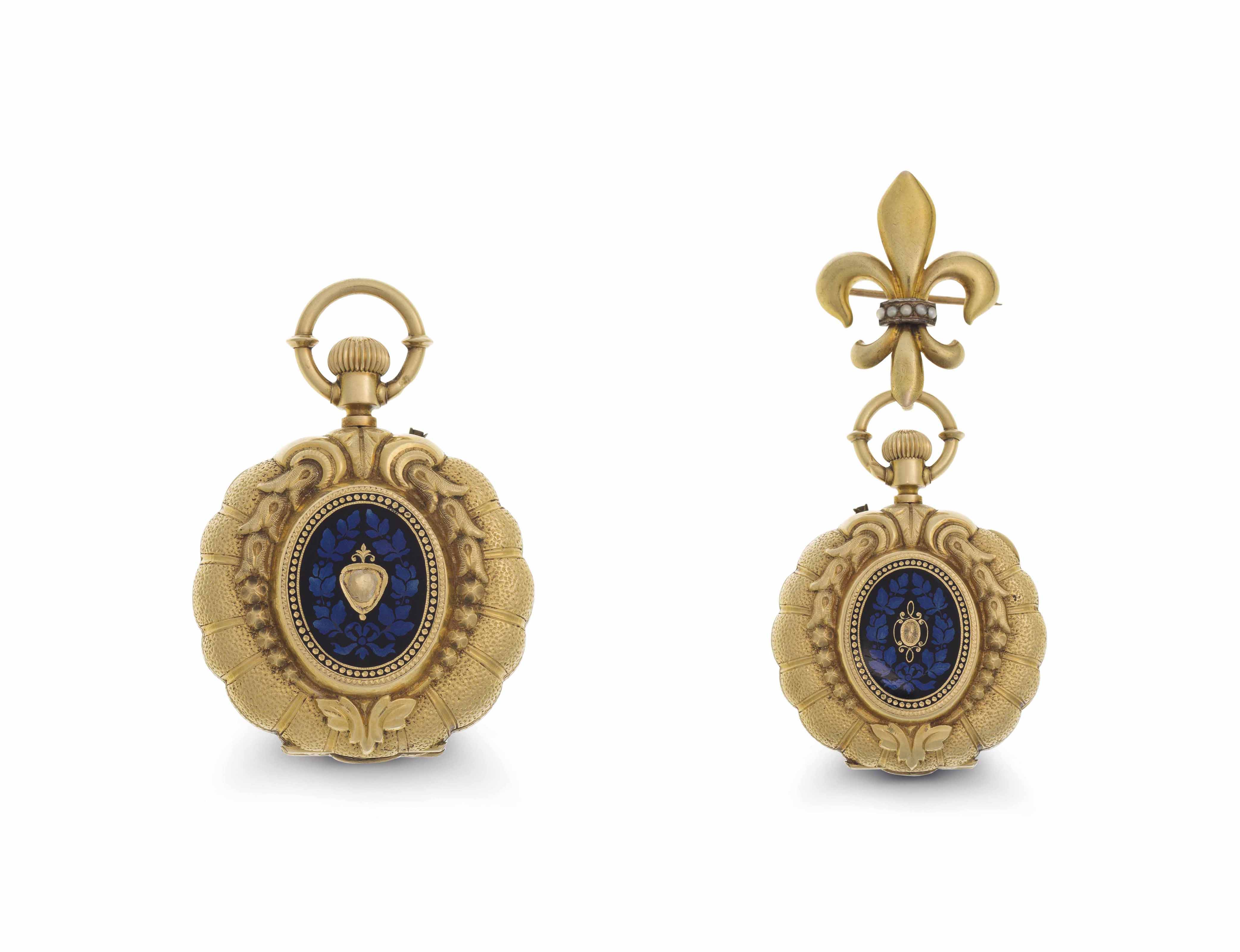 Degeilh. An 18k Gold and Ename