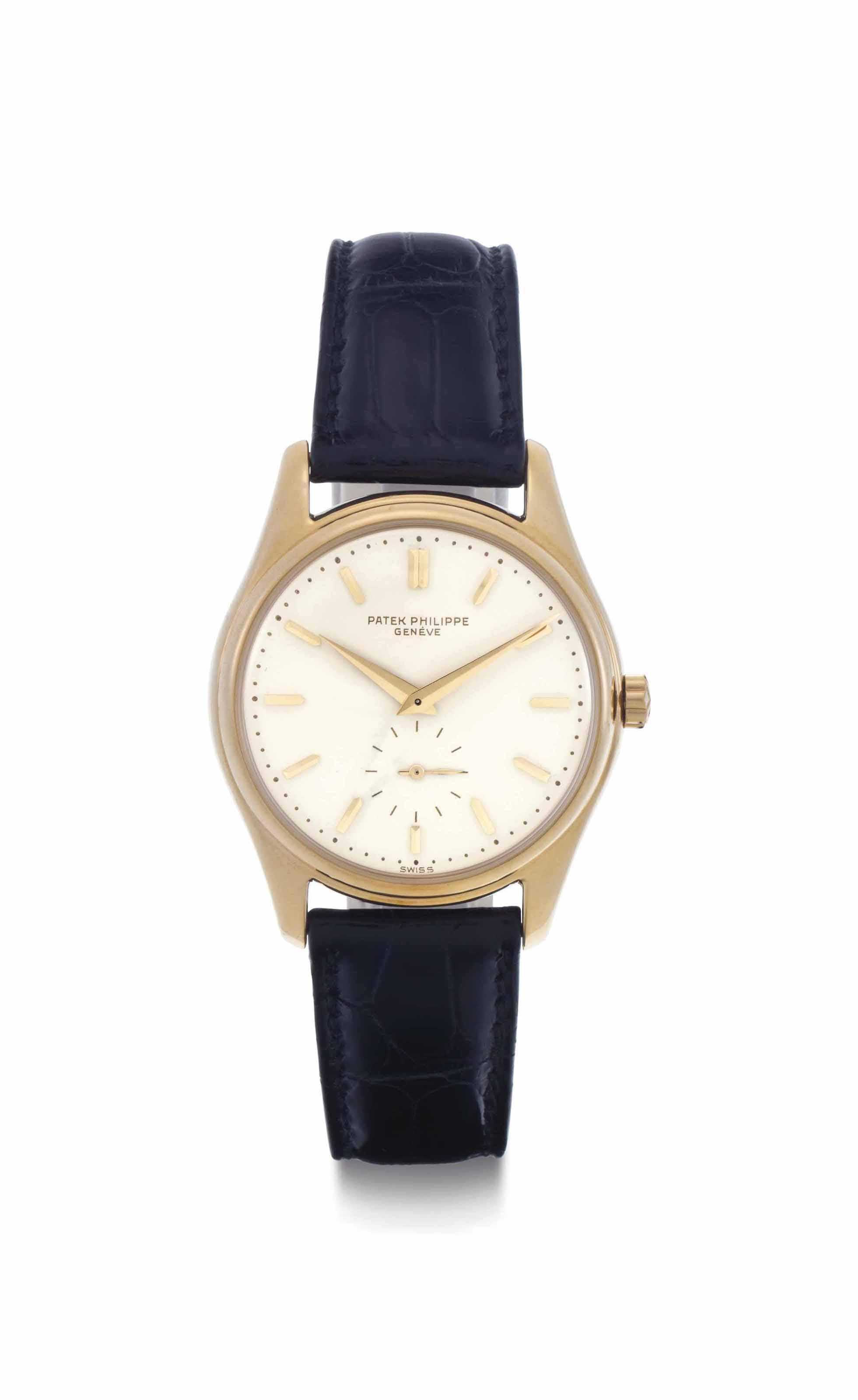 Patek philippe a fine 18k gold automatic wristwatch with enamel dial signed patek philippe for Patek philippe geneve