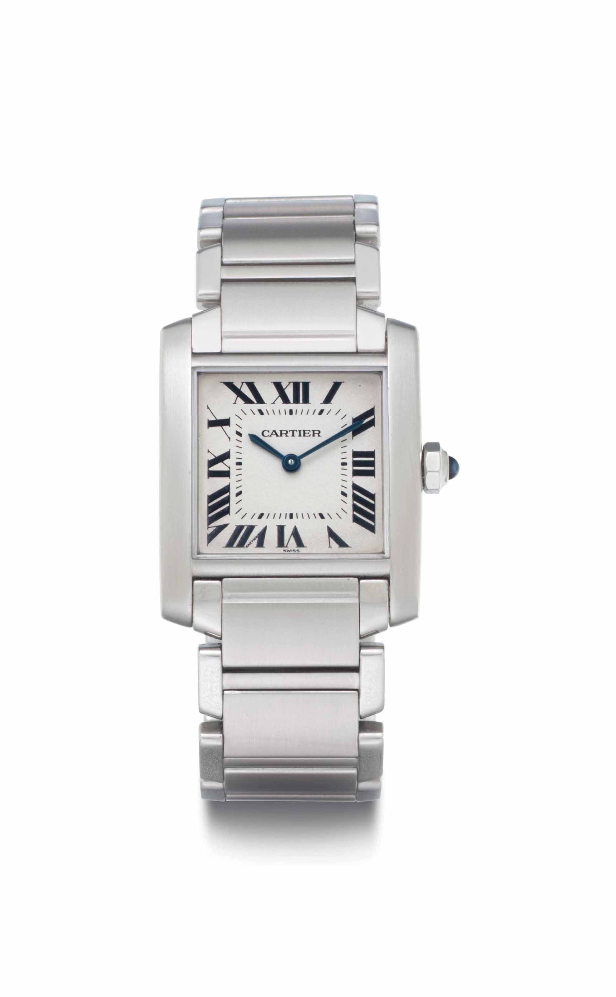 Cartier. A Stainless Steel Wri