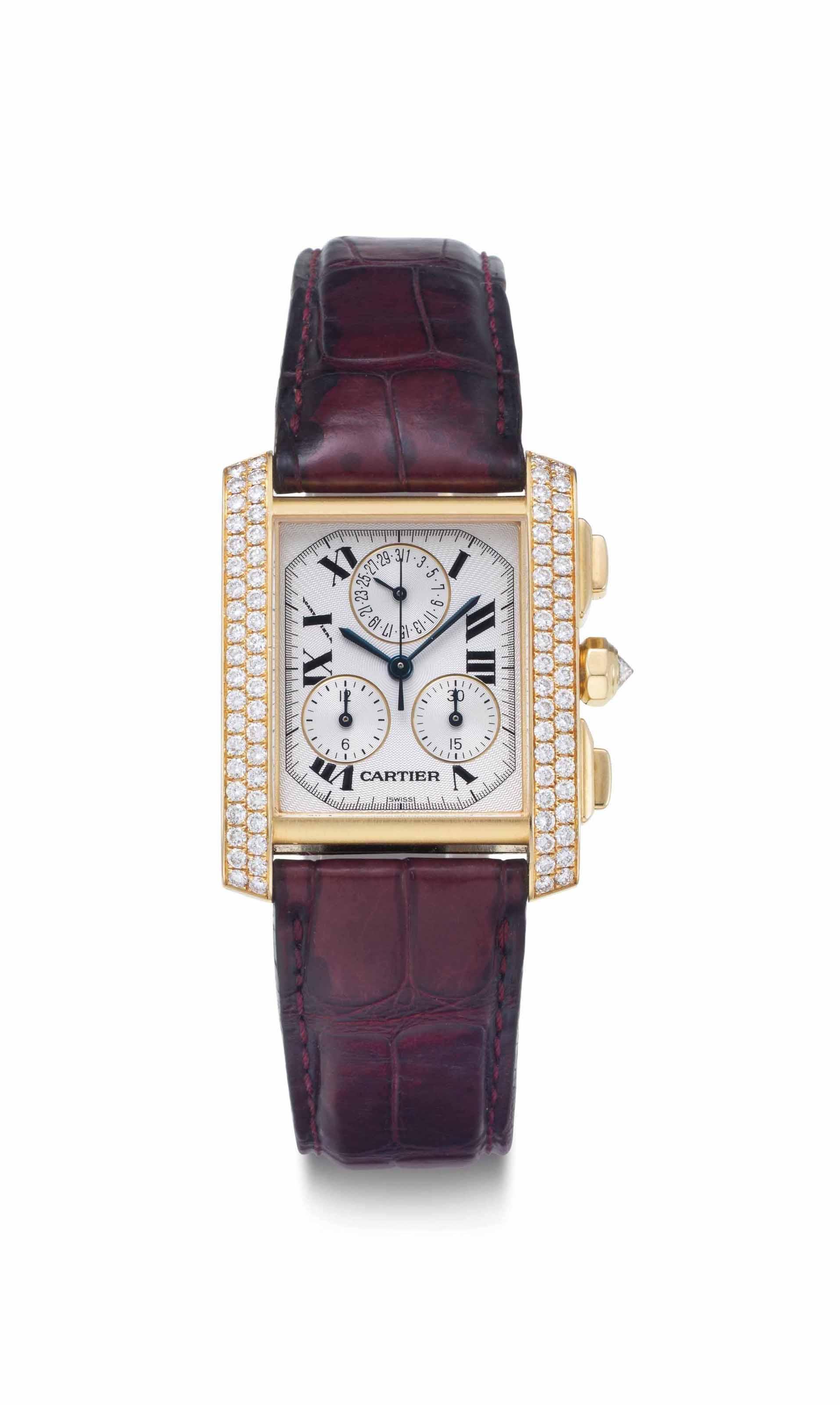 Cartier. An 18k Gold and Diamo
