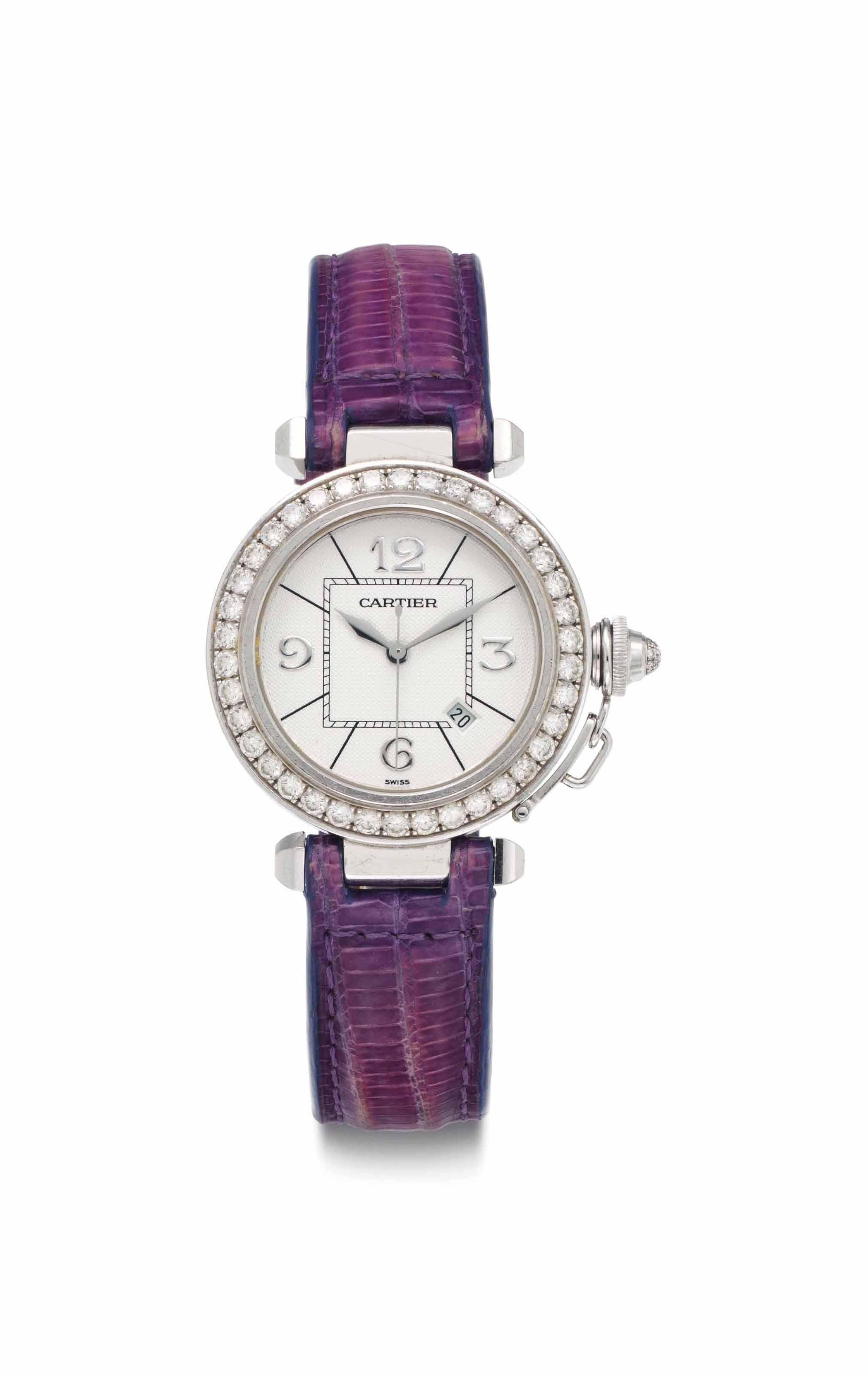 Cartier. A Lady's 18k White Go
