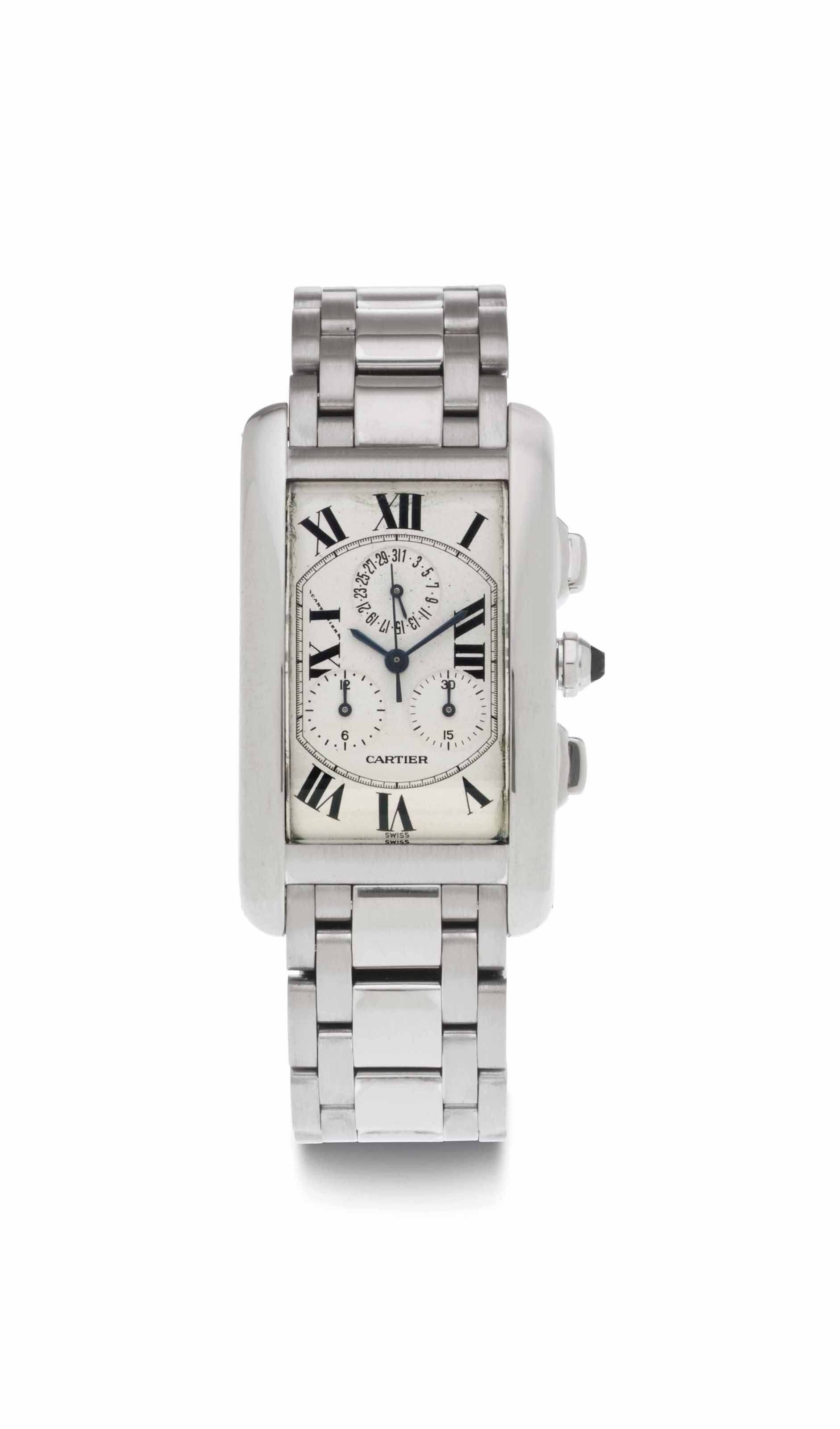 Cartier. An 18k White Gold Chr