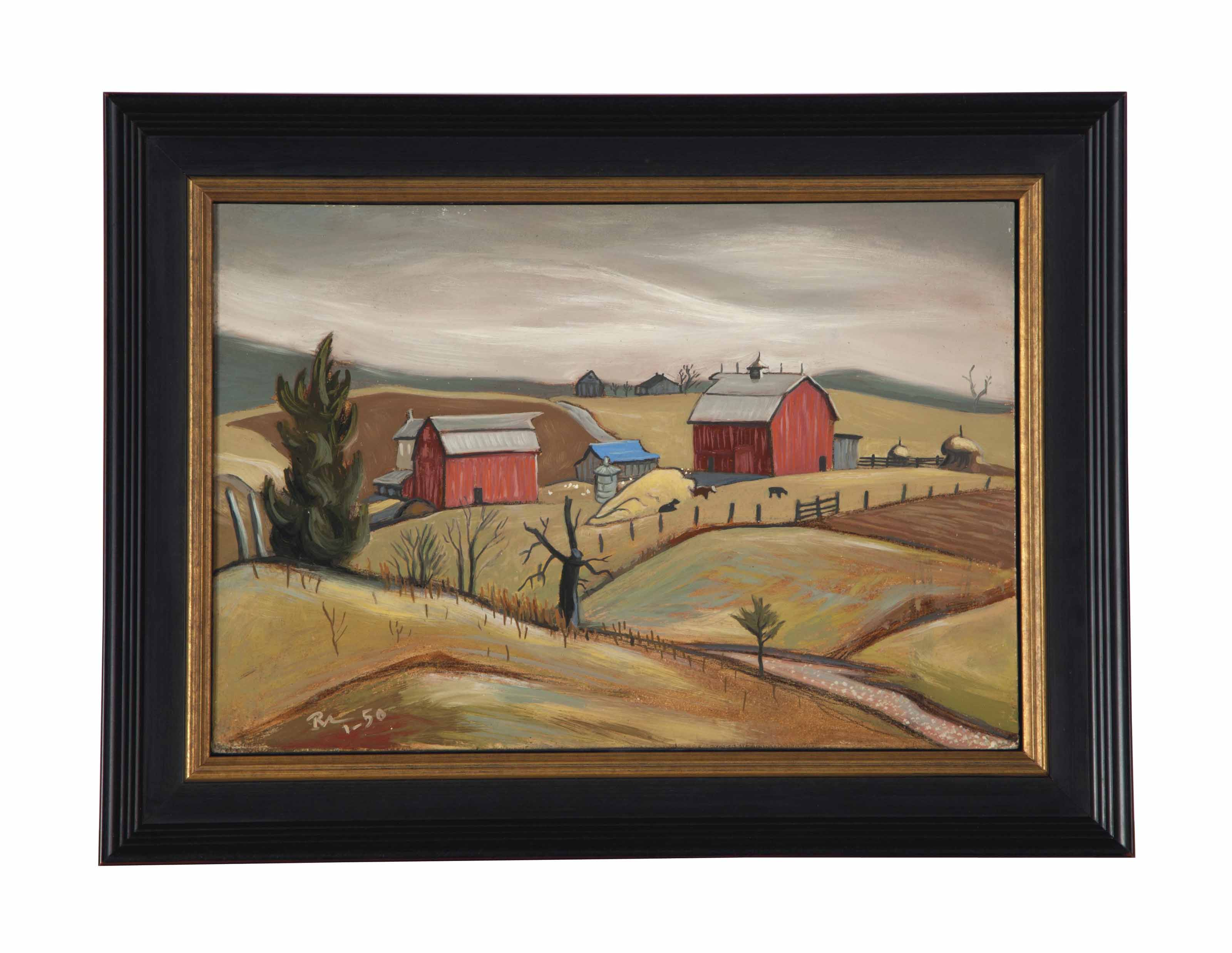 Sketch for the painting Missouri Farm