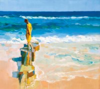Untitled (figure at the beach)