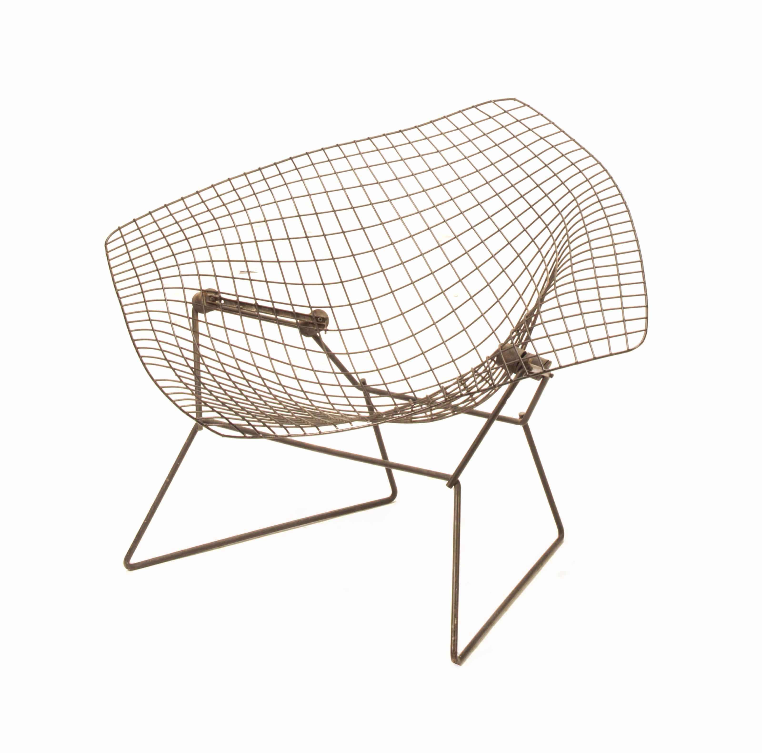 Marvelous A Black Enameled Metal Diamond Lounge Chair Designed By Alphanode Cool Chair Designs And Ideas Alphanodeonline