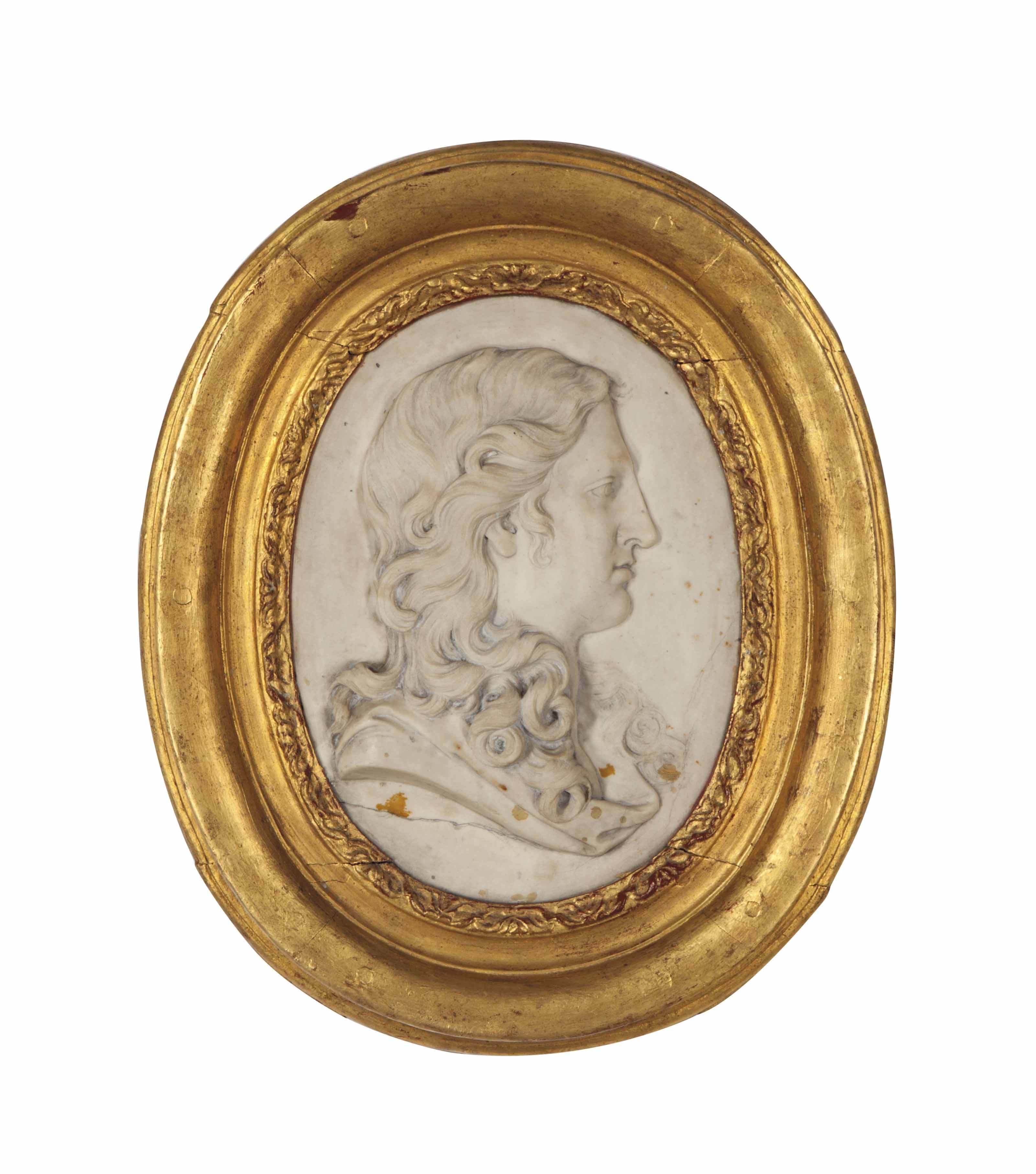 A REGENCE MARBLE PORTRAIT BUST OF A YOUNG MAN,