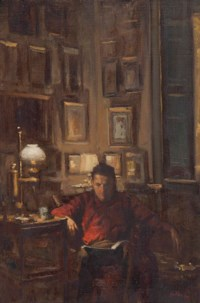 Portrait of a seated man in an interior