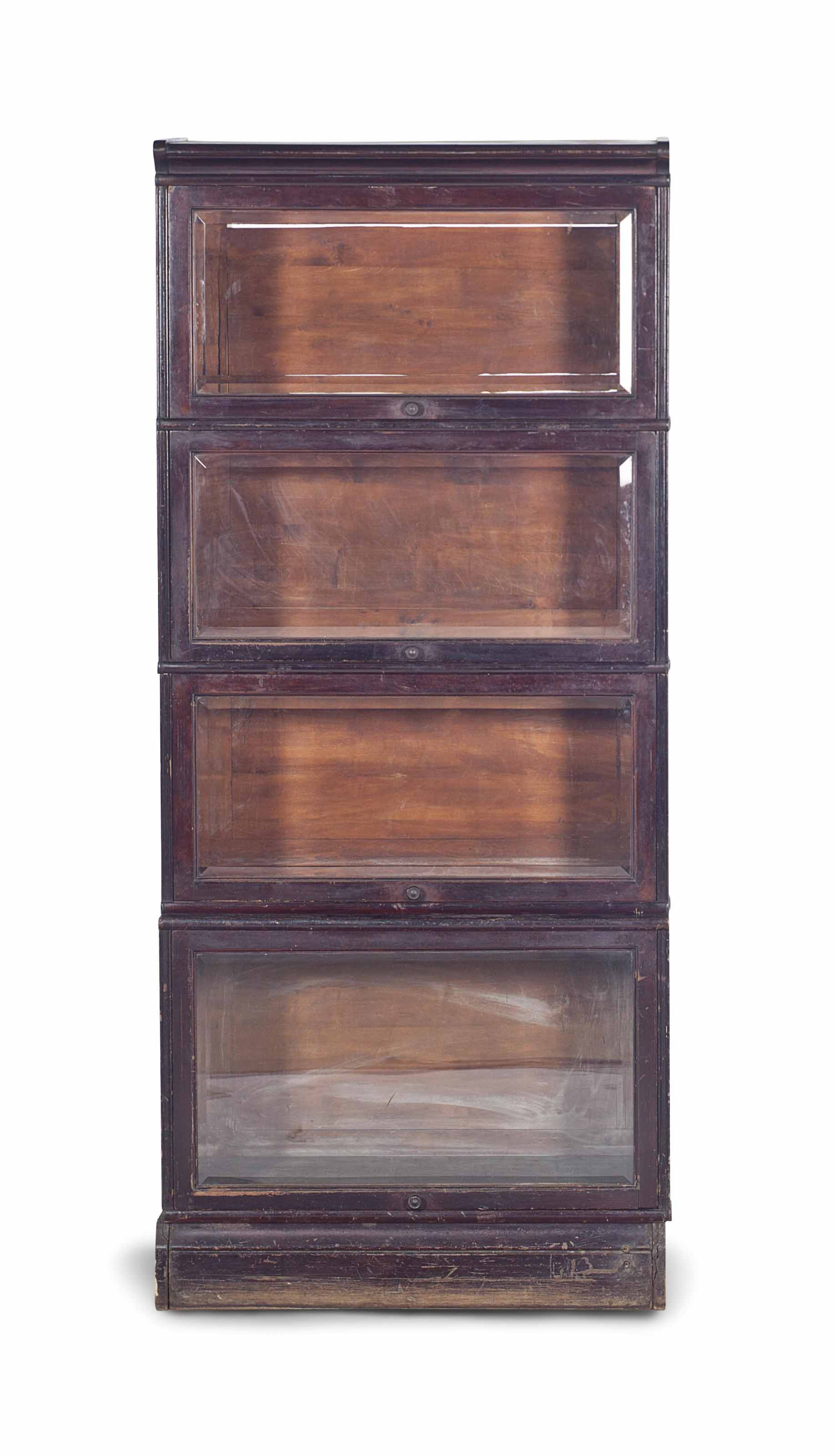 A Metal Mounted Mahogany Barrister S Bookcase Late 19th