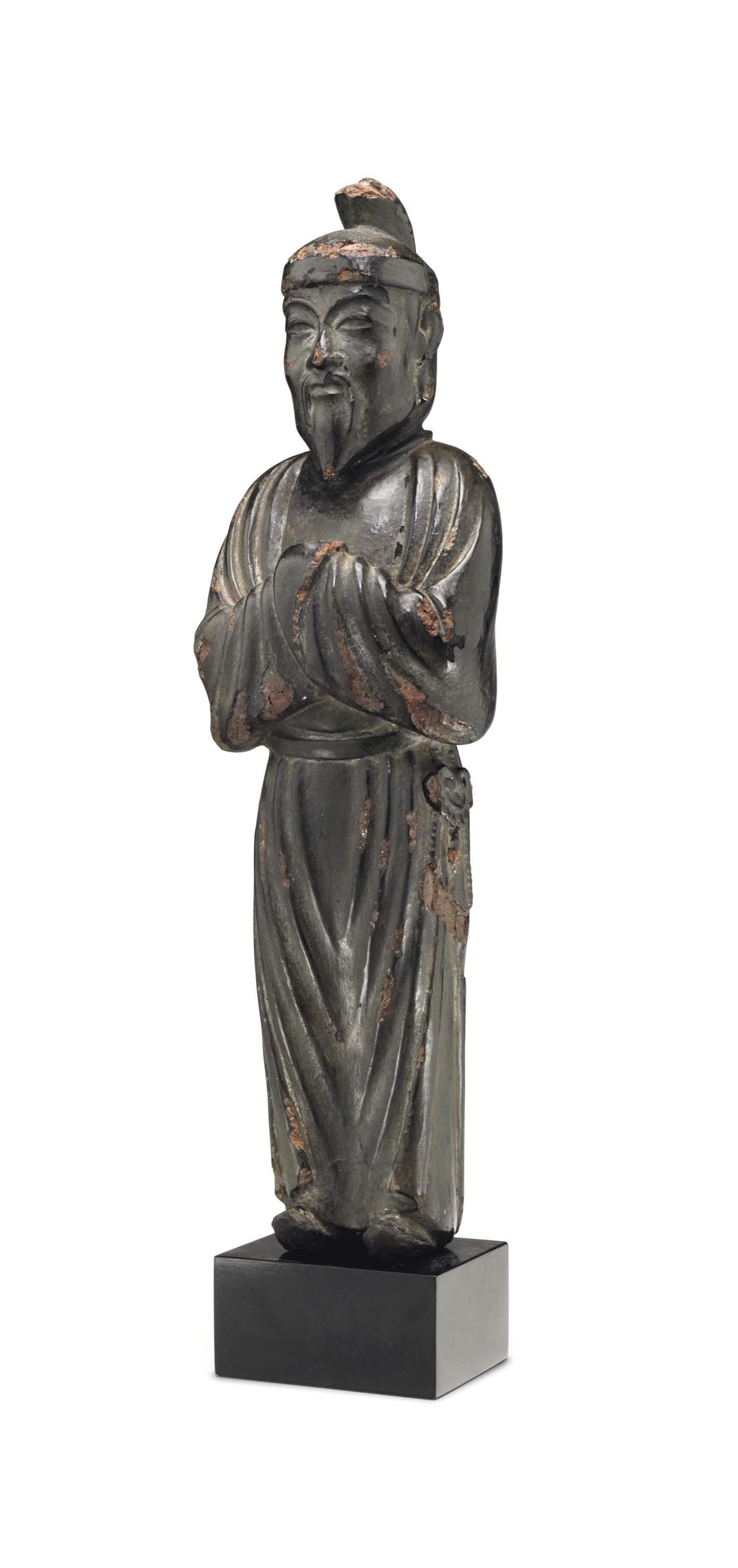 A wood figure of Shotoku taishi