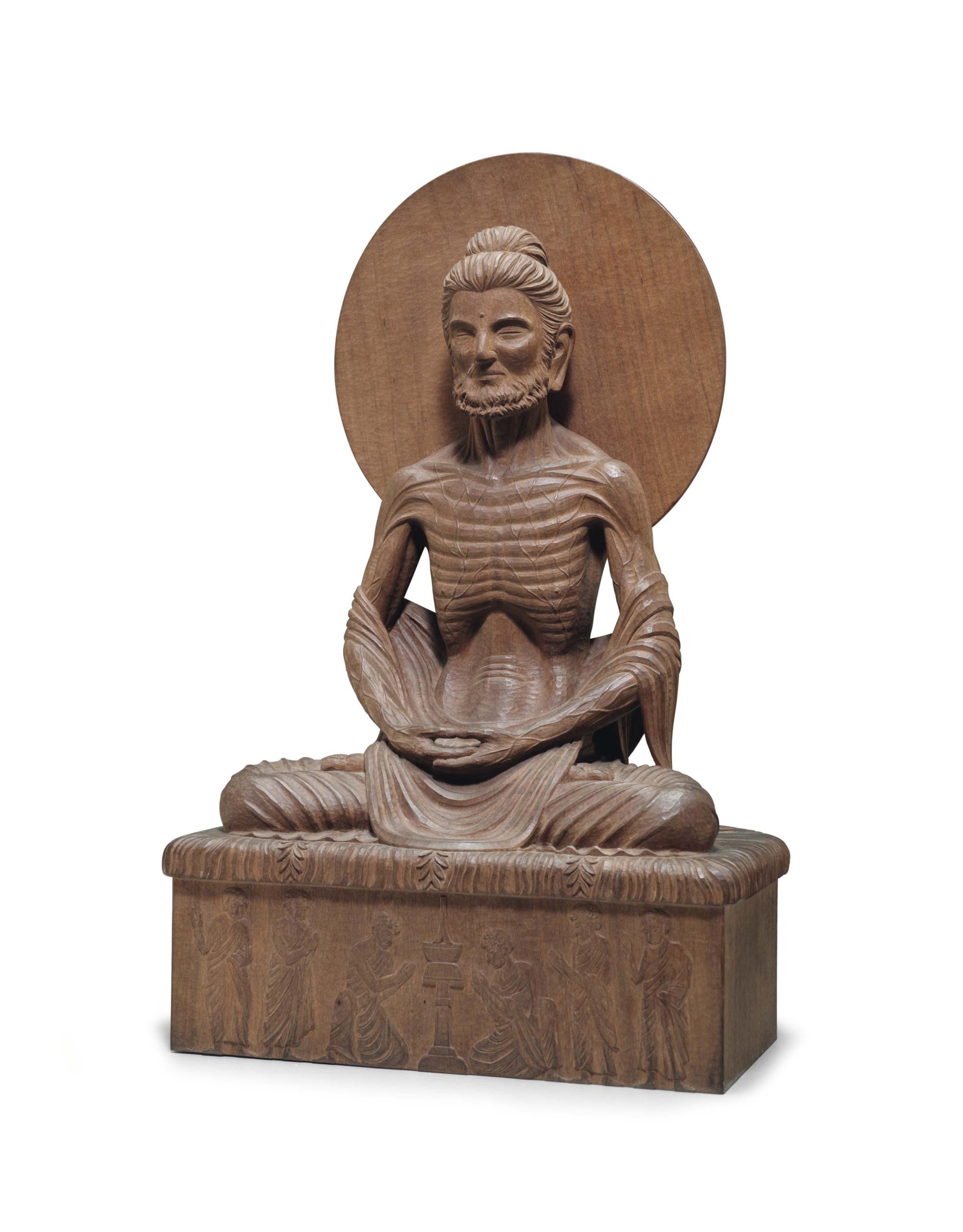 A Wood Figure of Siddhartha Fasting