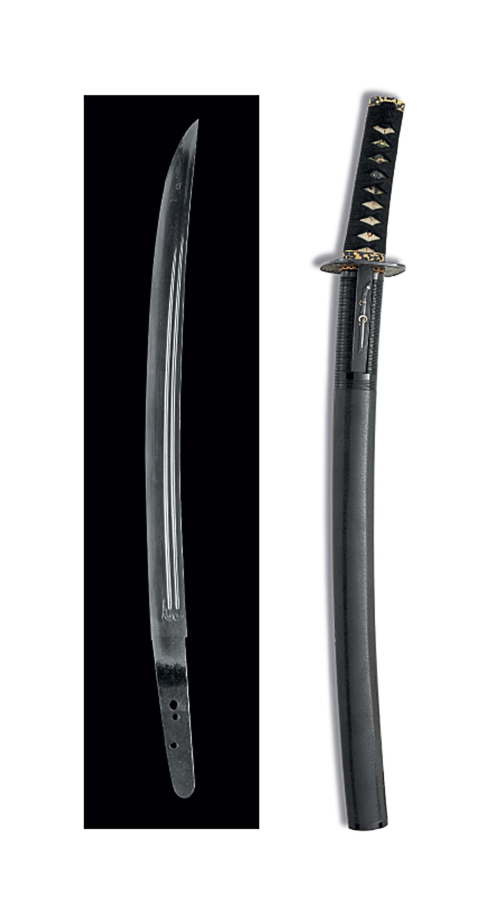 A mounted wakizashi