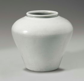 A Small White Porcelain Jar