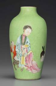 A FAMILLE ROSE-DECORATED LIME-