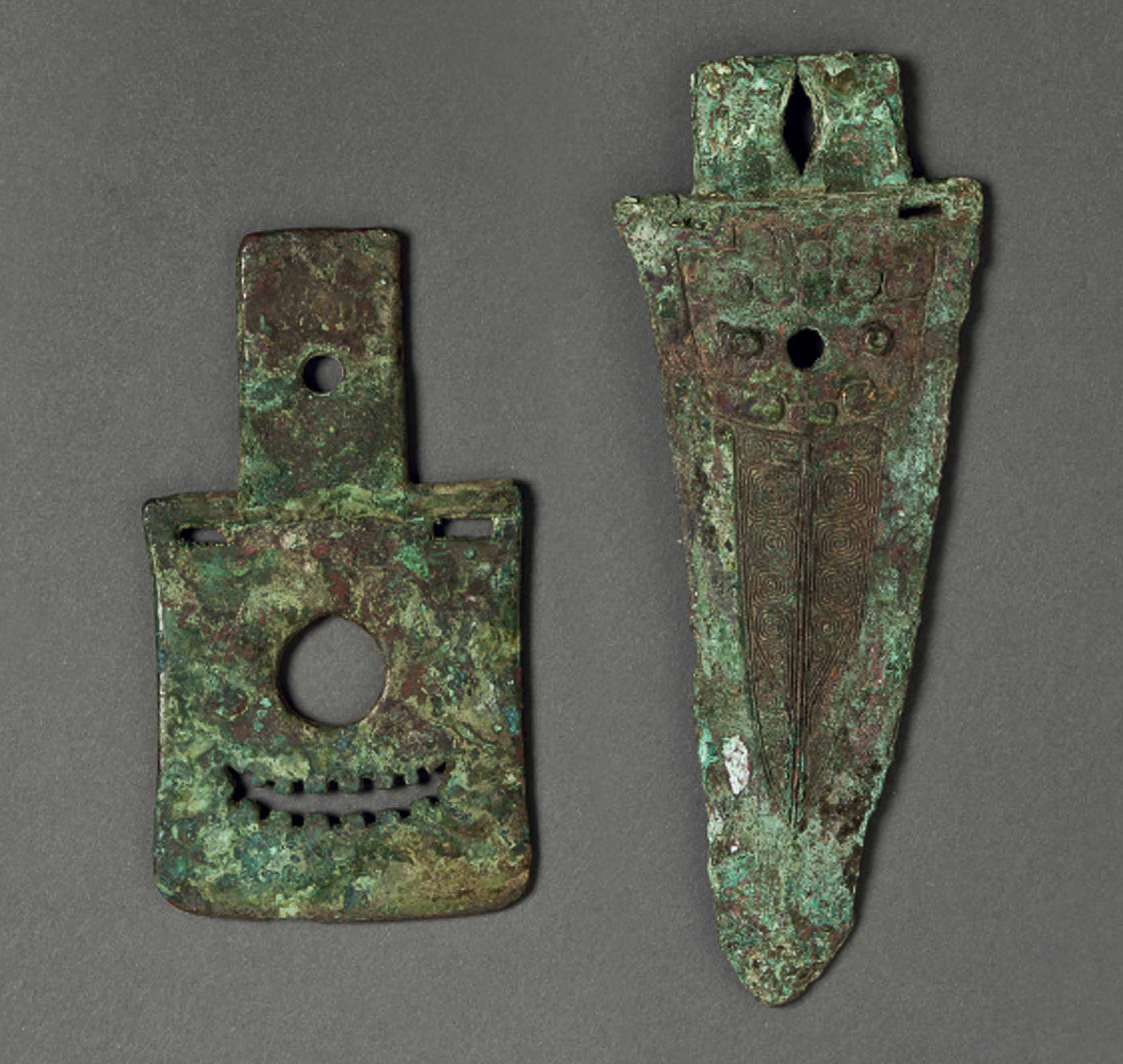 TWO EARLY BRONZE BLADES