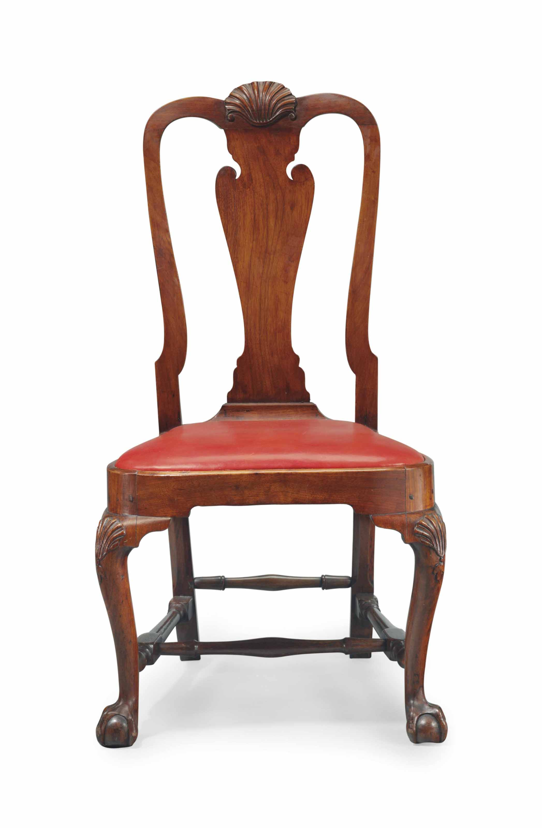 A QUEEN ANNE CARVED MAHOGANY C