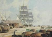 Unloading Oil Casks, Merrill's Wharf, New Bedford