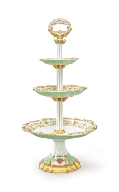 A THREE-TIERED TAZZA FROM A ST