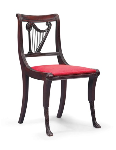 A CLASSICAL MAHOGANY AND BRASS
