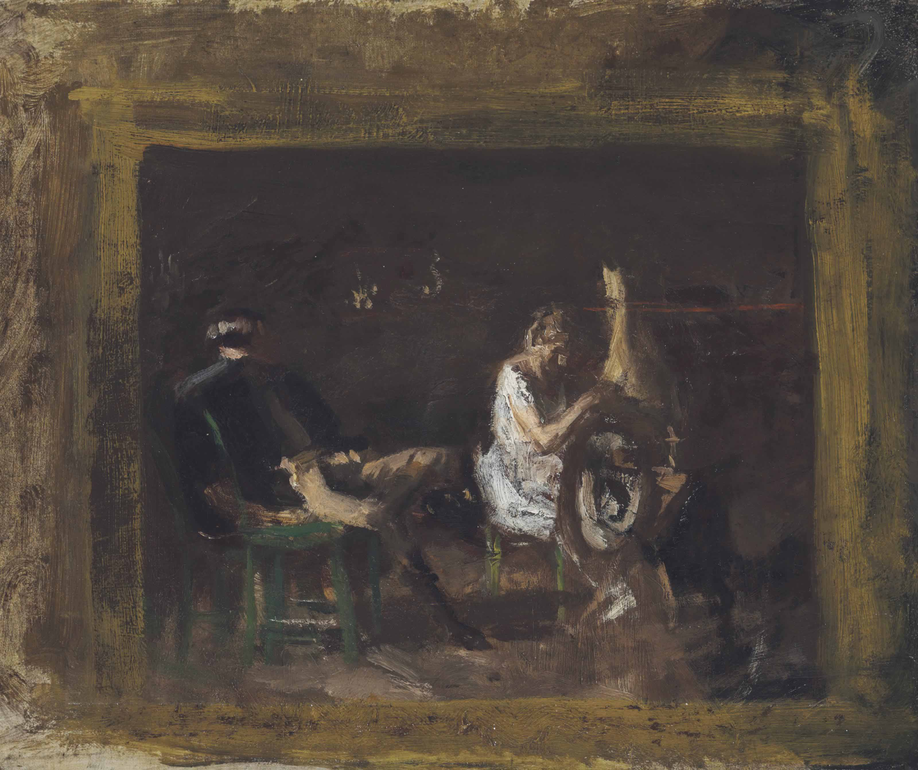 "Study for ""Courtship"""