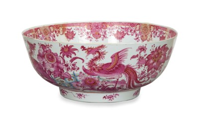 A CHINESE EXPORT PUCE DECORATE