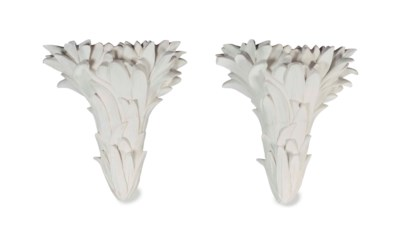A PAIR OF 'ELSIE PALM' PAINTED