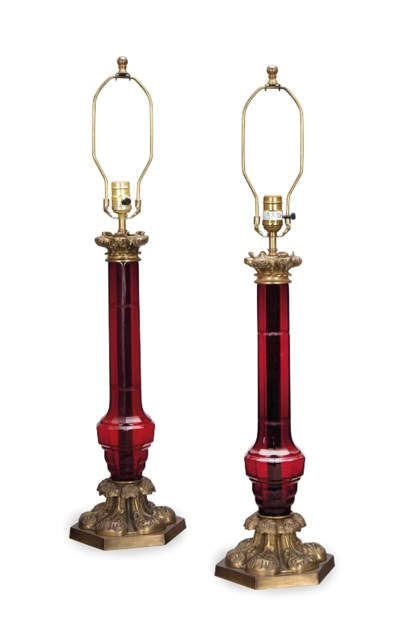 A PAIR OF GILT METAL-MOUNTED R