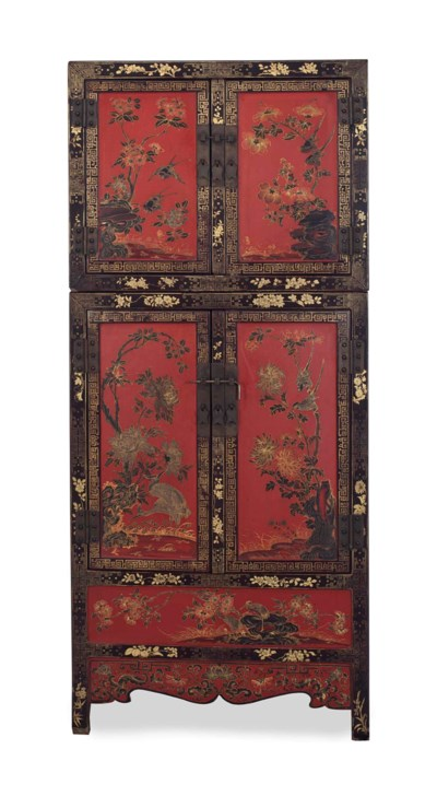A CHINESE SCARLET LACQUER AND