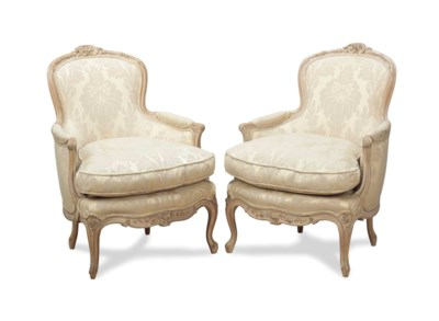 A PAIR OF FRENCH STYLE CREAM-P