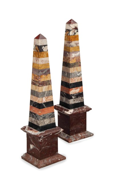 A PAIR OF SPECIMEN MARBLE MODE