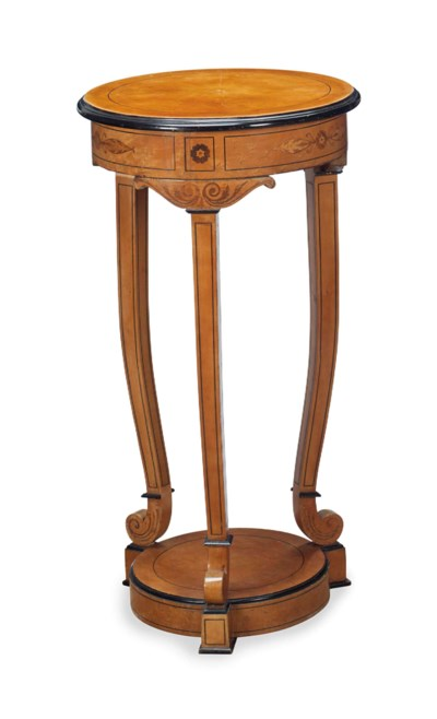 A PAIR OF FRENCH SATINWOOD INL