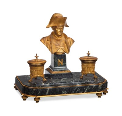 A FRENCH LACQUERED GILT BRONZE