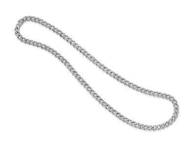 A DIAMOND AND WHITE GOLD LINK