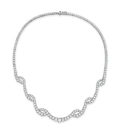 A DIAMOND NECKLACE, BY OSCAR H